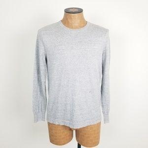 J. Crew Gray Cotton Crewneck Sweater Size Small